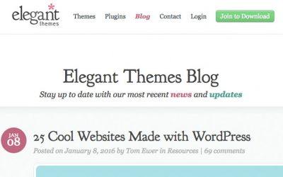25 websites gemaakt met WordPress